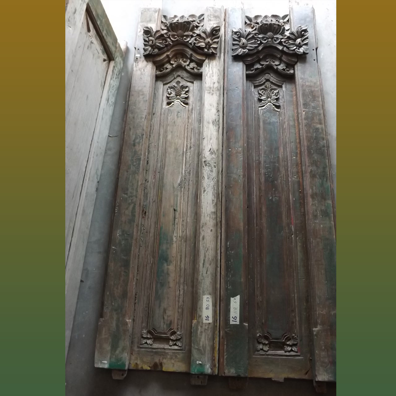 Hand Carved Double Doors – Size 110 x 53